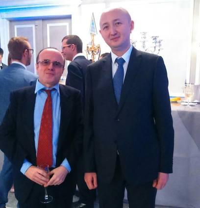 Excmo. Sr. Danat U. Mussayev, Consejero - consul en Barcelona de la Embajada de la República de Kazajistán en España.
