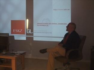 D. David Gómez-Calcerrada, Director ejecutivo de ESKZ, durante su exposición.