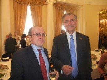 Excmo. Sr. D. Yuri Korchagin, Embajador de la Federación Rusa en España; junto a , Fernando Moragón Presidente de OHRE